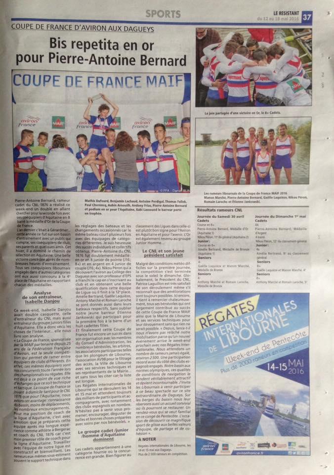 -Coupe de France MAIF-Le Résistant-11 mai 2016-