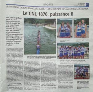 -Le Résistant-jeudi 16 juin- Championnat de Zone-Brive