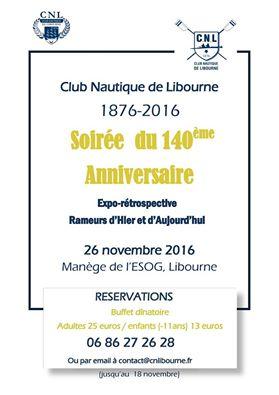 Soirée du 140ème Anniversaire du Club Nautique de Libourne