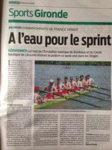 -Championnats de France Sprint- Gérardmer-2016-