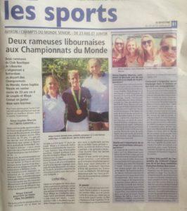 Championnats du Monde-Rotterdam-Le Résistant-Jeudi 24 août-